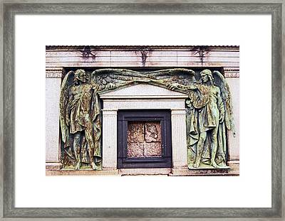 18/09/13 Glasgow. The Necropolis, Double Angels. Framed Print