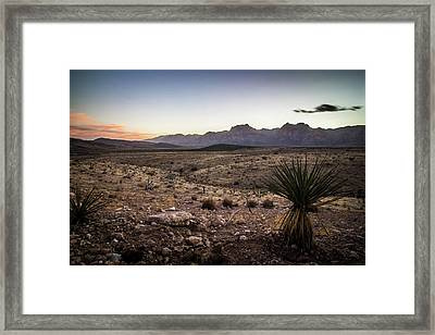 Framed Print featuring the photograph Red Rock Canyon Las Vegas Nevada At Sunset by Alex Grichenko