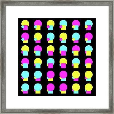 180 Circle And Square - Phi Framed Print