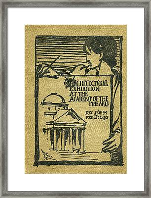 1894-95 Catalogue Of The Architectural Exhibition At The Pennsylvania Academy Of The Fine Arts Framed Print