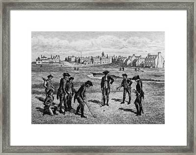 18th Century Golfers Framed Print by Hulton Archive