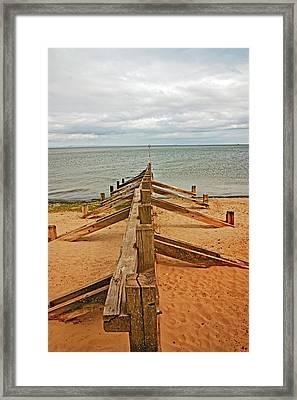 19/08/13 Edinburgh, Poetobello. The Shore And Groynes. Framed Print