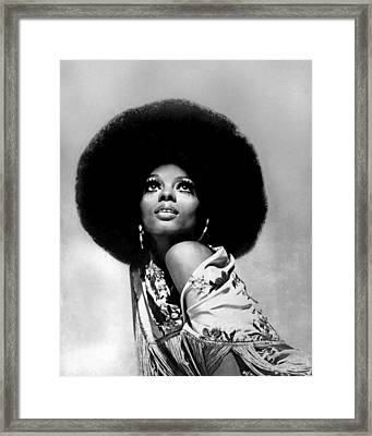 Diana Ross Portrait Session Framed Print
