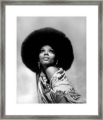 Diana Ross Portrait Session Framed Print