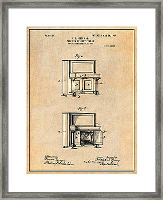 piano patent framed art prints fine art america