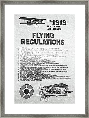 1919 Flying Regulations Poster Framed Print