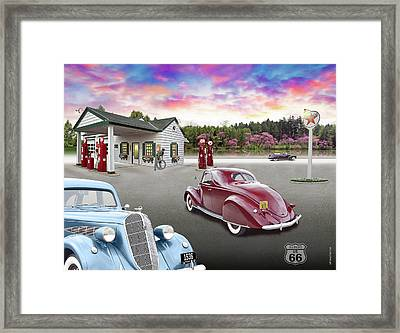 1930s Home Style Texaco Station Framed Print