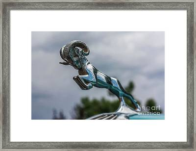 1936 Dodge Hood Ornament Framed Print