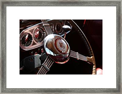 Framed Print featuring the photograph 1937 Vintage Model 1508 Steering Wheel by Debi Dalio