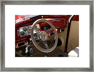 Framed Print featuring the photograph 1938 Pontiac Silver Streak Interior by Debi Dalio