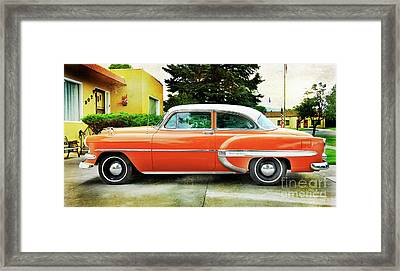 1954 Belair Chevrolet 2 Framed Print