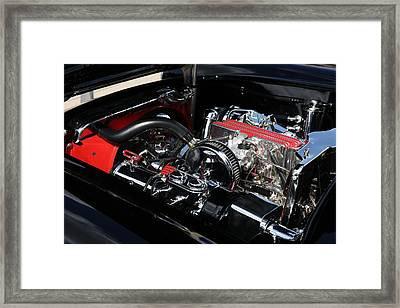 Framed Print featuring the photograph 1957 Chevrolet Corvette Engine by Debi Dalio