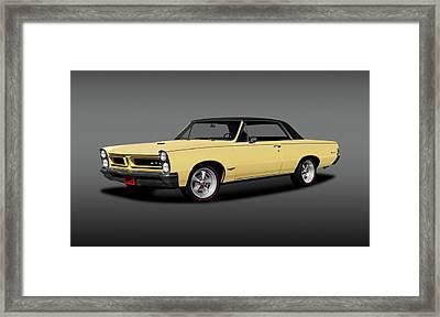 1965 Pontiac Gto Coupe  -  1965pontiacgtohdtpgray196775 Framed Print by Frank J Benz