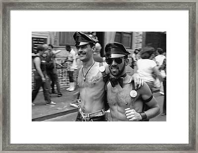 1982 Gay Pride March Framed Print by Fred W. McDarrah