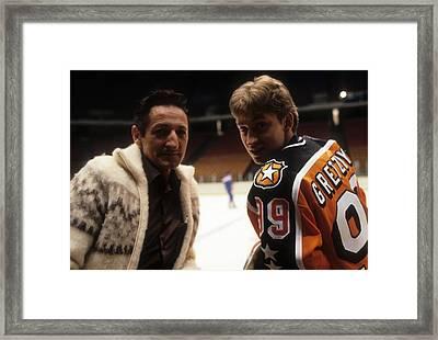 1984 36th Nhl All-star Game  Campbell Framed Print by B Bennett