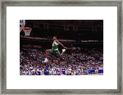 1991 Slam Dunk Contest Framed Print By Nathaniel S Butler