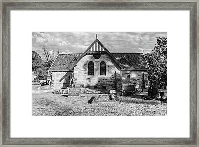19th Century Sandstone Church In Black And White Framed Print