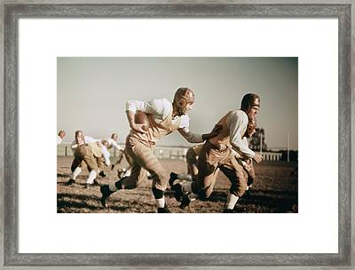 1930s High School Football Framed Print
