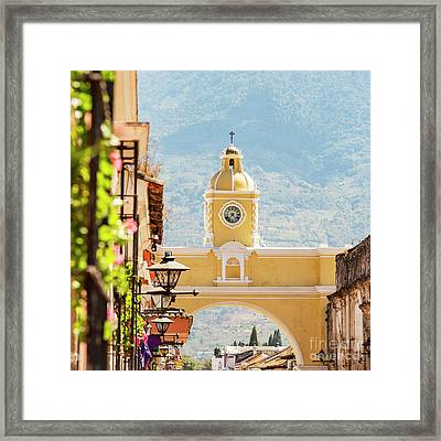 Framed Print featuring the photograph Antigua Guatemala by Tim Hester