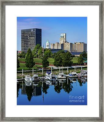 Augusta Ga - Savannah River Framed Print