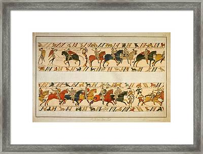 Bayeux Tapestry Framed Print by Hulton Archive