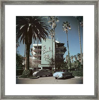 Beverly Hills Hotel Framed Print by Slim Aarons