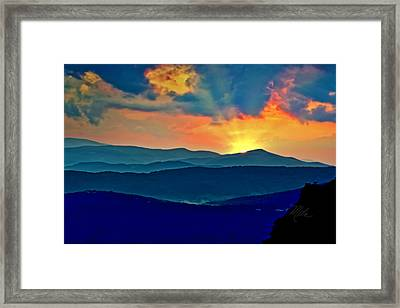 Blue Ridge Mountains Sunset Framed Print