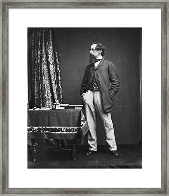 Charles Dickens Framed Print by Hulton Archive