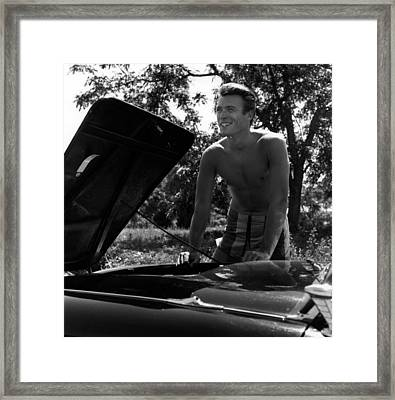 Clint Eastwood Portrait Session Framed Print by Michael Ochs Archives