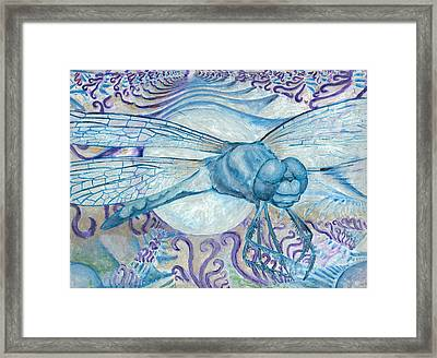 Dragonfly Moon Framed Print