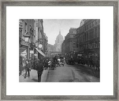 Fleet Street Framed Print by London Stereoscopic Company
