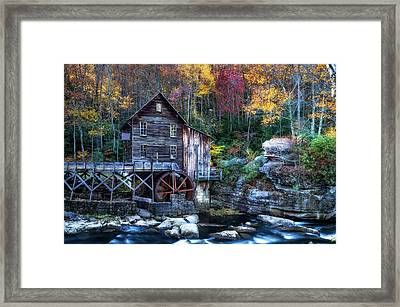 Framed Print featuring the photograph Glade Creek Grist Mill  by Pete Federico