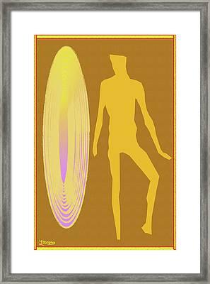 Golden Mist Framed Print