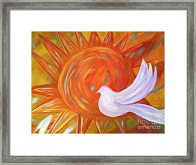 Healing Wings Framed Print