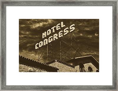 Hotel Congress - Tucson, Arizona Framed Print