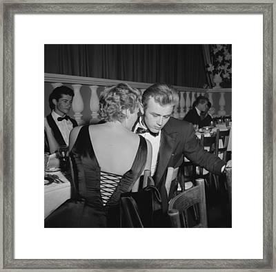 James Dean And Ursula Andress Framed Print