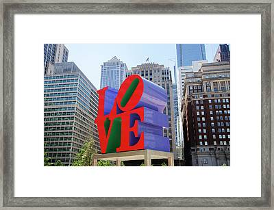 Framed Print featuring the photograph Love In The City - Philadelphia by Bill Cannon