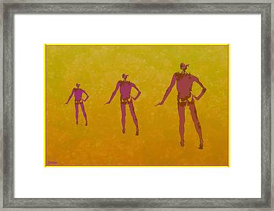Male In Perspective Framed Print