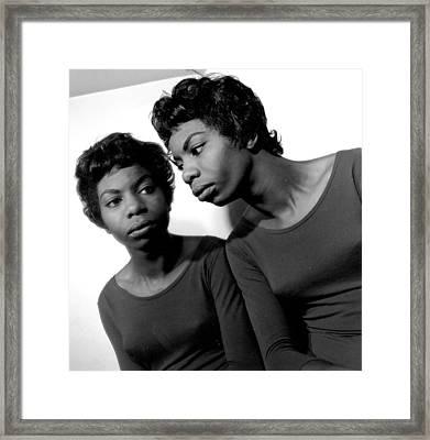 Nina Simone Framed Print by Herb Snitzer
