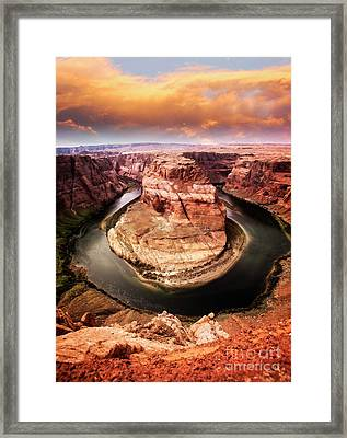 Framed Print featuring the photograph River Bend by Scott Kemper