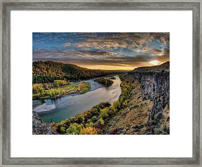 Framed Print featuring the photograph River Magic by Leland D Howard