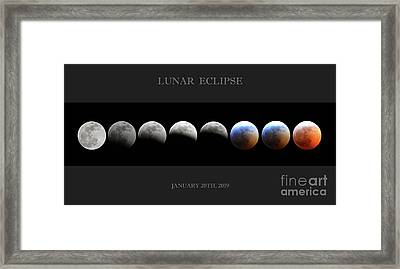 Super Blood Wolf Moon Framed Print