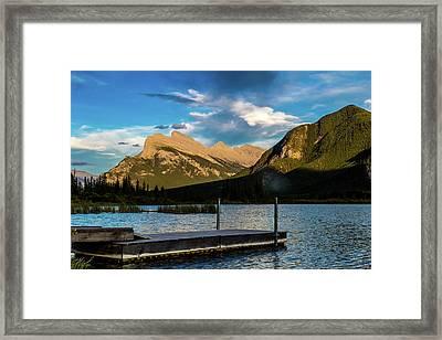 Vermillion Lakes, Banff National Park, Alberta, Canada Framed Print