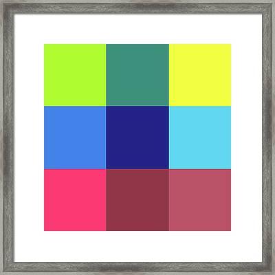 2018-10-15-11-35 Grid Framed Print