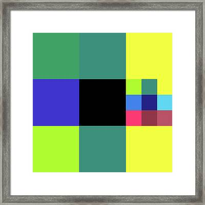 2018-10-17-09-09 Grid Framed Print