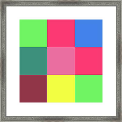 2018-10-19-11-39 Grid Framed Print