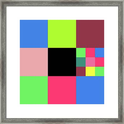 2018-10-21-00-11 Grid Framed Print
