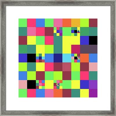 2018-10-25-14-32 Grid Framed Print