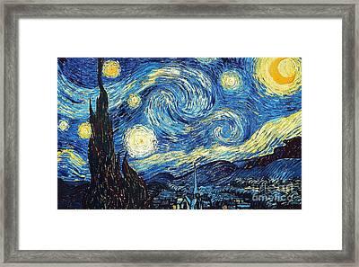 Starry Night By Van Gogh Framed Print