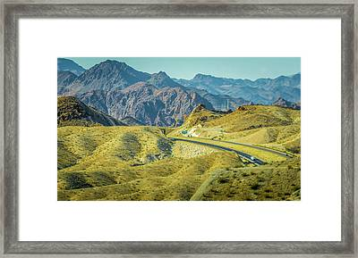 Framed Print featuring the photograph Red Rock Canyon Landscape Near Las Vegas Nevada by Alex Grichenko